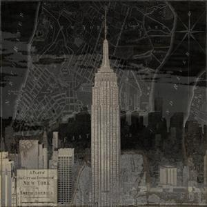 Vintage New York in Black I by Dylan Matthews