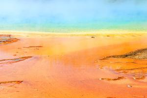 Detail of the Vibrant Colors of Grand Prismatic Pool, Yellowstone NP by dzain
