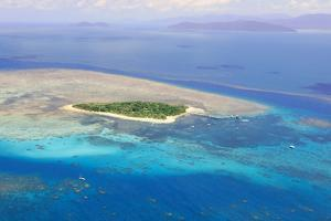Green Island at Great Barrier Reef near Cairns Australia Seen from Above by dzain