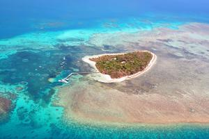 Green Island Great Barrier Reef, Cairns Australia Seen from Above by dzain