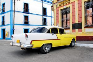 Vintage Oldtimer Car in the Streets of Camaguey, Cuba by dzain