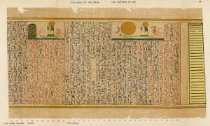 An Example of Egyptian Hieroglyphics: The Sun-God in His Bark by E.a. Wallis Budge