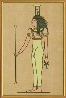 Funerary Deity She Mourns the Pharaoh When He Dies and Escorts Him into the Underworld by E.a. Wallis Budge