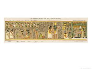 Judgement of the Dead Before Osiris in the Underworld by E.a. Wallis Budge