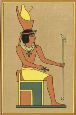 Khonsu is Worshipped Under Many Names: Here He is Depicted as Nefer-Hetep Holding an Ankh by E.a. Wallis Budge