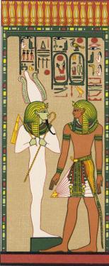 King Seti I Addressing Osiris Khent-Amentet by E.a. Wallis Budge