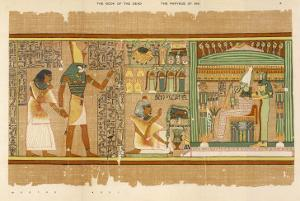 Papyrus of Ani the Dead Ani Judged Innocent is Presented by Horus to Osiris by E.a. Wallis Budge
