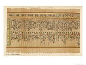 The Hail of the Two-Fold Maat Decorated with Uraei and Feathers Symbolical of the Law by E.a. Wallis Budge