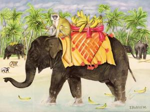 Elephants with Bananas, 1998 by E.B. Watts