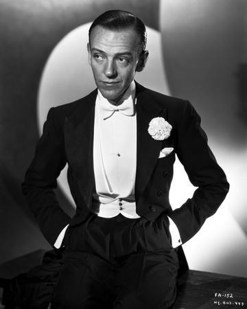 Fred Astaire in Tuxedo with Hands on Pocket Black and White
