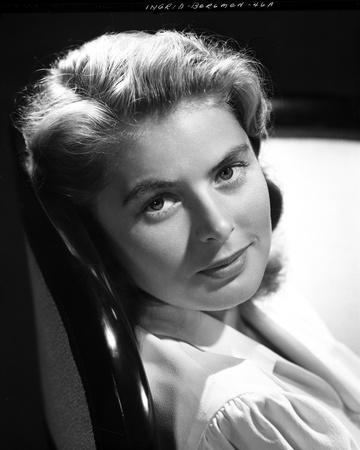 Ingrid Bergman Leaning and wearing a Blouse