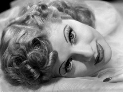 Lucille Ball Lying in Black and White