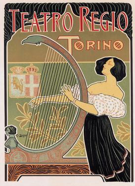 Teatro Regio, Torino, Italy, Art Nouveau, La Belle Époque by E. Bigliardi