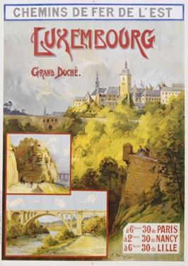 Luxembourg Travel Poster by E. Bourgeois