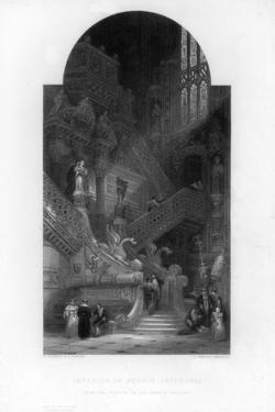 Interior of the Burgos Cathedral, 19th Century by E Challis