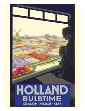 Holland - Bulb Time - Tulip Season March-May by E. G.