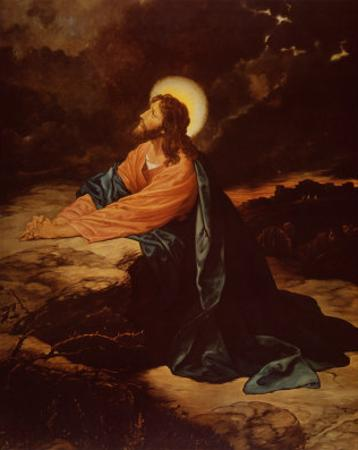 Christ in Gethsemane by E. Goodman
