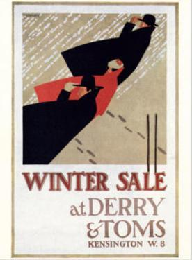 Winter Sale at Derry and Toms by E. Hauffer