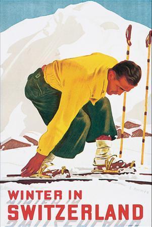 Winter in Switzerland by E. Hermes
