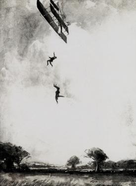 WW1 - Lieutenant Warneford Crashes While Testing Plane, 1915 by E. Hudgson