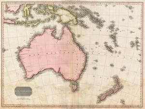 John Pinkerton's Map of Australia and the South West Pacific, 1818 by E. J. Pinkerton