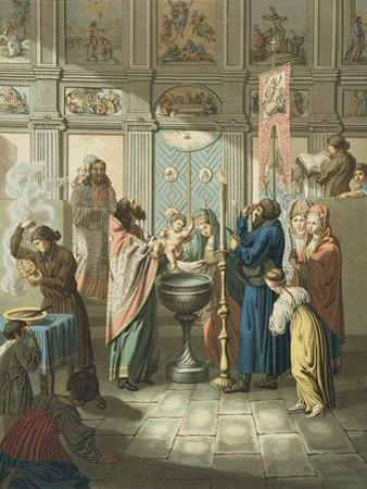 The Baptism Engraved by Gros