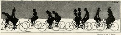Cycling Silhouette by E. Kneiss