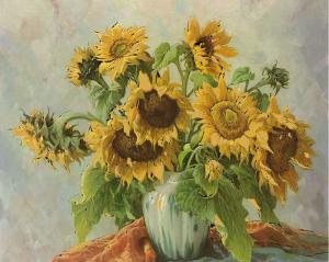 Sonnenblumen III by E. Kruger
