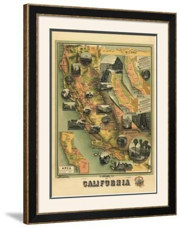 The Unique Map of California, c.1885