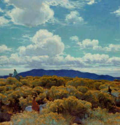 Through the Chamisa, Santa Fe Opera, 1989 by E. Martin Hennings