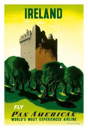 Ireland - Irish Castle - Pan American Airlines (PAA)