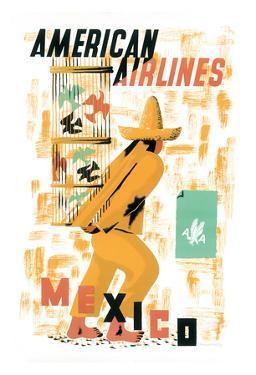 Mexico - American Airlines - Bird Cage Vendor by E. McKnight Kauffer