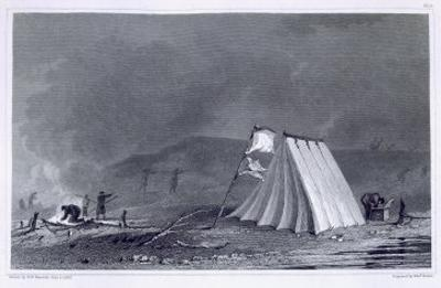 Encampment in Browell Cove, c.1826