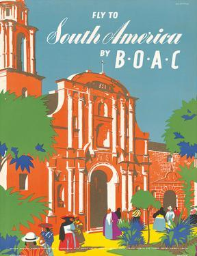 British Overseas Airways Corporation: Fly to South America by BOAC, c.1950s by E.O. Seymour