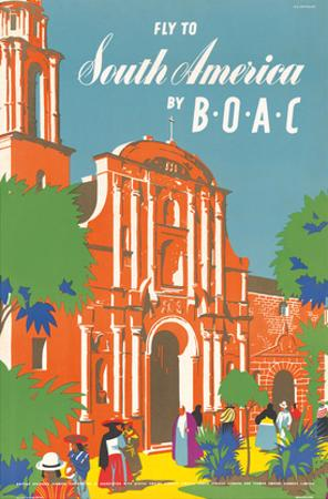 Fly to South America by BOAC - British Overseas Airways Corporation