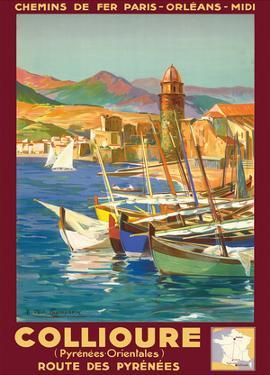 Collioure, France - Eastern Pyrenees - Railways Paris-Orleans-Midi by E. Paul Champseix