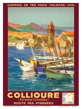 Collioure, France - Eastern Pyrenees - Railways Paris-Orleans-Midi by E. Paul Champseix