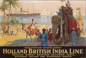 Holland British India Line Poster by E.V. Hove