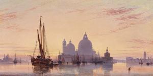 Sunset behind Santa Maria della Salute, Venice, 1851 by E.W. Cooke