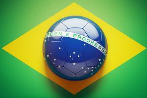 Brazilian Flag Soccer Ball by eabff