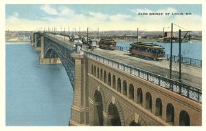 Eads Bridge, Streetcars, St. Louis, Missouri
