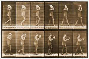Image Sequence of a Man with a Hat Walking, 'Animal Locomotion' Series, C.1887 by Eadweard Muybridge
