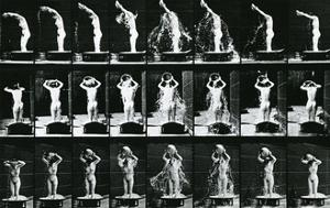 Woman Pouring a Basin of Water over Her Head, Illustration from 'The Human  by Eadweard Muybridge