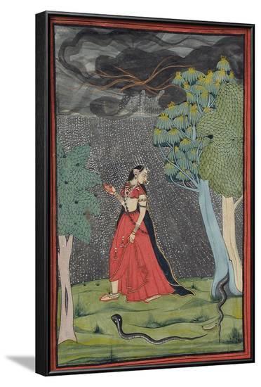 Eager Heroine on Her Way to Meet Her Lover--Framed Art Print