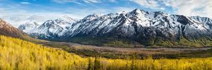 Eagle River Valley with Hurdygurdy Mountain in the background, Chugach National Park, Alaska, USA