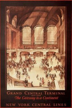 Grand Central Terminal, New York, 1927 by Earl Horter