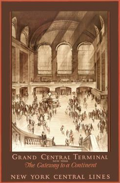 Grand Central Terminal, New York - The Gateway to a Continent - New York Central Lines by Earl Horter