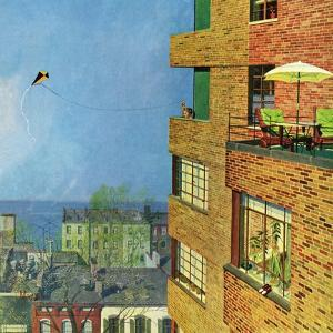 """""""Apartment Kite Flyer"""", June 14, 1958 by Earl Mayan"""