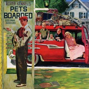 """""""Boarding the Dog"""", August 24, 1957 by Earl Mayan"""