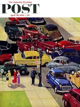 """""""Traffic Jam"""" Saturday Evening Post Cover, April 28, 1956 by Earl Mayan"""